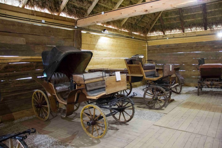 MANOR BARN FROM RADKOWICE - INTERIOR VIEW, CARRIAGES